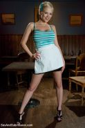 Katie Kox works at a bar where business has been slow and money is short. A weal