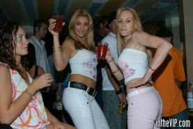Club babes goin crazy in the vip room of the club
