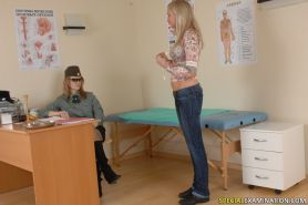 Military checkup including female dominance