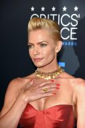 Jaime Pressly showing huge cleavage at the 5th Annual Critics Choice Television