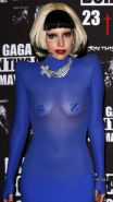 Lady Gaga showing her fucking sexy body and nice tits in see thru dress
