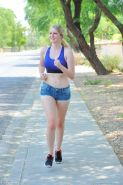 Cute perky tits pale teen Summer getting naked outdoors in public
