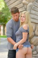 Danielle FTV daring blowjob in secluded public area