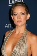 Kate Hudson braless showing huge cleavage at LACMA 2013 Art   Film Gala in Los A