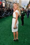 Bar Paly leggy and cleavy wearing a sexy white dress at the Million Dollar Arm p