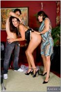 Vanessa Videl and Ava Devine take this young stud and have their way with him