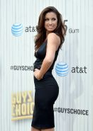 Katherine Webb braless showing huge cleavage in a tight short black dress at the