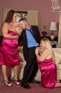 Big plump wedding and bbw threesoem fucking