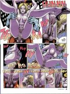 Comics with woman caught masturbating in the toilet