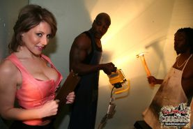 Busty MILF Velicity Von gets double penetrated by black studs