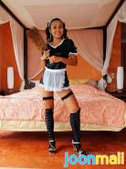 Joon Mali is a cute thai chick in a french maid outfit