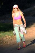 Ashley Tisdale takes a hike in Hollywood Hills wearing a sports bra
