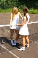 Two tennis girls strip