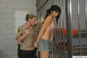 Busty Diana Prince in the prison