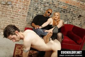 Wife cuckolds her husband with big black cock