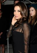 Beautiful Eva Longoria looks hot wearing nothing under tight c-thru dress at the