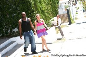 Chasi Chambers lets her Dad watch as she goes black
