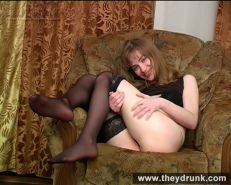 Drunk small tits teen blonde Nelly feels lonely and masturbates  #67429781