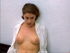 Alyssa Milano showing her nice big tits in nude movie caps