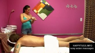 Sexy asian masseuse gives amazing massage