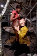 Ebony babe Ana Foxx fucked in her Star Trek costume