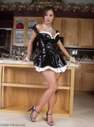 Crissy Moran wears a sexy french maid outfit