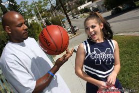 pretty teen cheerleader gets creampied by a hung black brotha