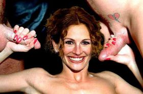 Julia Roberts showing her pussy and tits and fucking hard