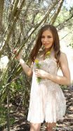 Avril Sun hot chick licked and dicked in the woods