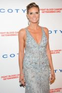 Heidi Klum braless showing side-boob at 6th Annual DKMS Linked Against Blood Can