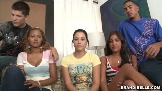 Brandi and friends sucking and fucking