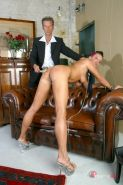 Redhead punk slave pussy tortured and waxed by her master