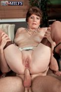 Horny Office Granny Slut Drilling Her Pussy And Tight Ass Hard
