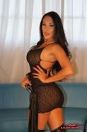 Latina of the Decade Nina Mercedez strips out of black lace and fucks herself go