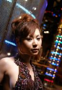 Pretty Japanese club hoe takes on two guys at once in vip room