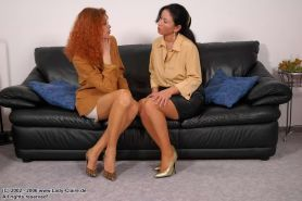 Redhead lady Claire with her lesbian lover