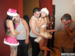 Xmas hardcore orgy party sex with sexy drunk slutty babes
