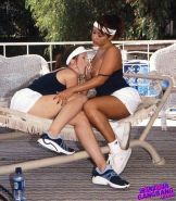 Big tits brunette and ebony lesbians softcore sex outdoors