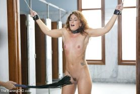 Savannah Fox rope bound redhead is fucked in her ass for bdsm training