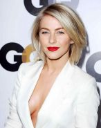 Julianne Hough braless showing huge cleavage at GQ Men of The Year party in LA