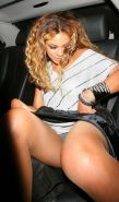 Beyonce showing her sweet pussy in limousine while she is drunk