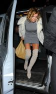 Geri Halliwell leggy wearing a tight mini dress  fuckme boots at the Piccadilly
