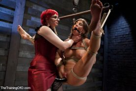 Lesbian slave training for the first time ever The sadistic Claire Adams thins t
