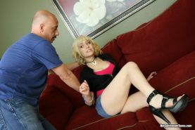Blonde teenie Proxy Paige enjoys a dick and facial