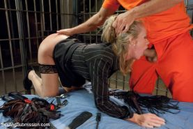 Simone Sonay is our sexy MILF prison warden who always gets what she wants from
