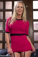 Mona Wales is bound spanked and straponed by stepmother Simone Sonay after being