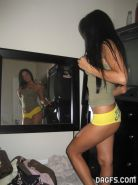 Luscious Latina hottie gets naked and shows off her beautiful body