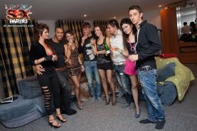 Girls in sexy clothes at sex party