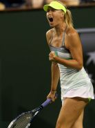 Maria Sharapova upskirt at the BNP Paribas Open in Indian Wells