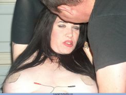 Electro torments and dental gagged tit punishments